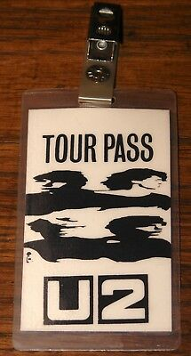 U2 Authentic 1980 1981 Boy Tour Clipped Laminated Pass