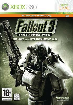 * Xbox 360 NEW SEALED Game Add-On Pack FALLOUT 3 The Pitt & Operation Anchorage