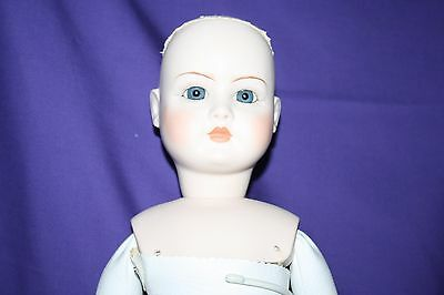 "Doll Simon & Halbig Mold 914 12 1/2 Reproduction 24"" Soft Body blue eyes"