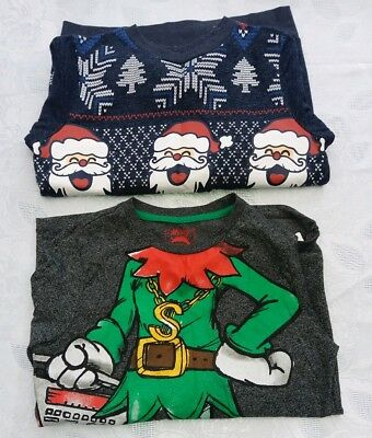 boys christmas jumper and top age 10-11