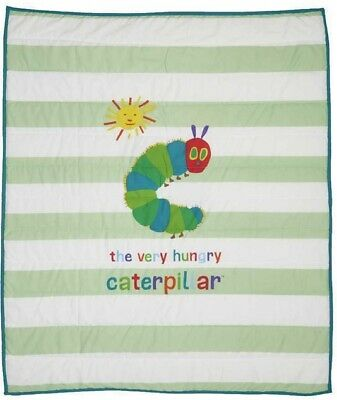 Eric Carle THE VERY HUNGRY CATERPILLAR COT COMFORTER plus knitted BLANKET BNIP