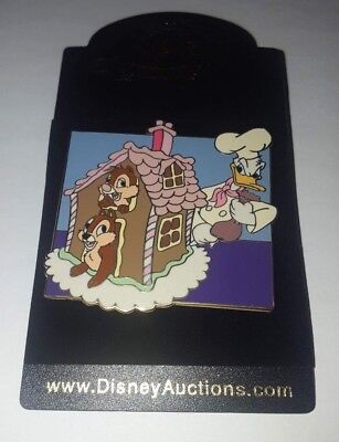 Donald Gingerbread House Pin 33058 Chip Dale Disney Auctions (P.I.N.S.) LE 1000