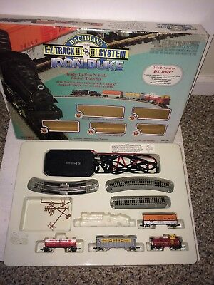 2 Vintage N Gauge Trains,Bachmann Iron Duke Set,AT & SF Locomotive,Shifty Sam