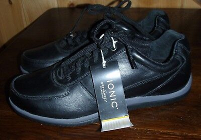 9cc375502d3 VIONIC BRANXTON BLACK walking comfort shoe orthaheel technology 7-13 ...