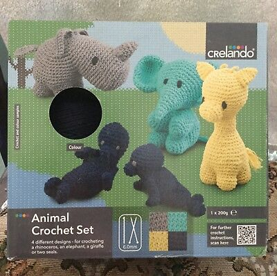 crelando animal crochet set ,new ,make your own ,,,1 animal  each box