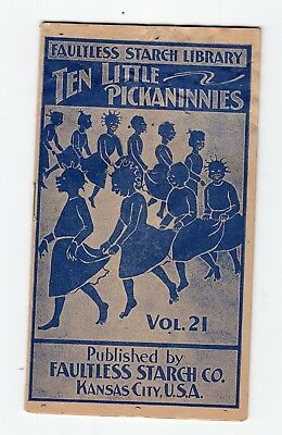 Vintage Politically Incorrect Faultless Starch Booklet, 10 Little Pickaninnies