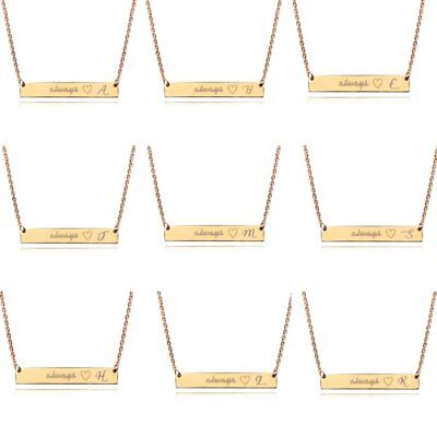 Fashion Initial Alphabet Letter Pendant Necklace Choker Chain Women Jewelry Gift