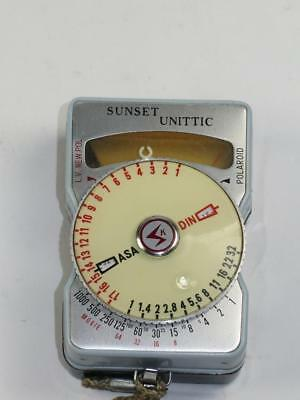 Vintage Photography Accessory SUNSET UNITTIC Light Meter in Leather Case 1960s