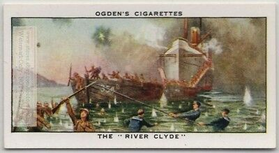 """The """"River Clyde"""" 1915 Gallipoli Invasion WWI 75+ Y/O Trade Ad Card"""