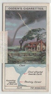 Graphic Of Anatomy Of a Tornado Whirlwind Waterspout c90 Y/O Trade Ad Card