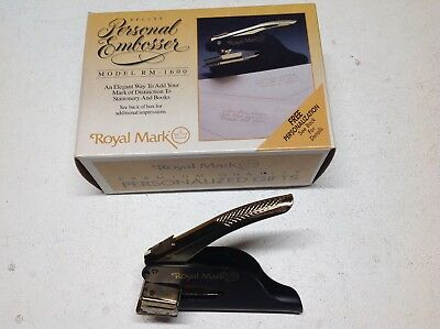 Royal Mark Deluxe Personal Embosser Model Rm-1600, USED