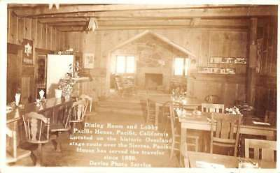 Pacific California Pacific House Dining Room Real Photo Antique Postcard J79906