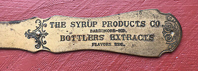 The Syrup Products Co. Baltimore MD. Letter Opener Bottlers Extracts