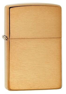Zippo 1941 Vintage Replica Lighter, Brushed Brass, Genuine USA Windproof New Box