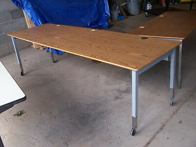 """used"" 8'  Laminate Wood Top/metal Legs   Utility Table - Pick Up Only! Hp8't3"