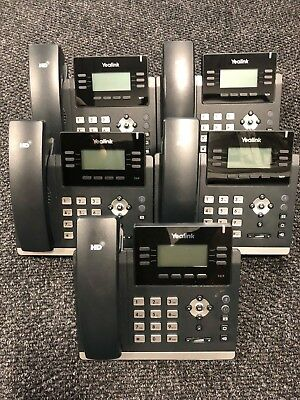 Lot of 5 Yealink Ultra-elegant IP Phones SIP-T41P NO AC 90 Day Warranty
