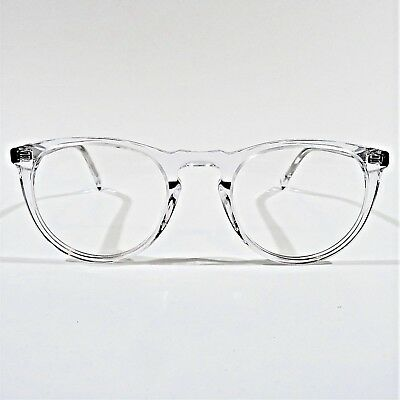 b1ab706538 NEW WARBY PARKER Eyeglasses RX Frame HASKELL 500 Crystal Clear 49-22 ...