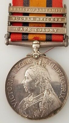Queen's South Africa Medal 1899-1902 SILVER CAPE COLONY, TUGELA HEIGHTS,