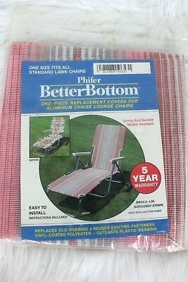 Vintage Replacement Patio Chair Cover Webbing 1 Solid Pc Aluminum Chaise Lounge
