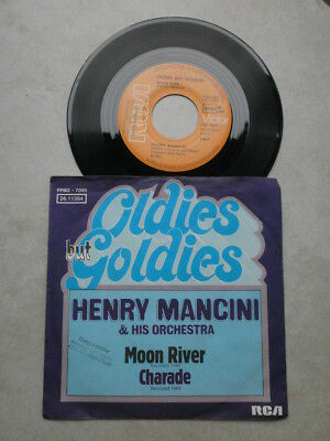 Single - HENRY MANCINI & HIS ORCHESTRA - Moon river / Charade - Beat 60er Jahre