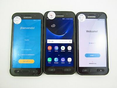 Lot of 3 Parts & Repair Samsung Galaxy S7 Active G891A ATT Check IMEI PR 3-957