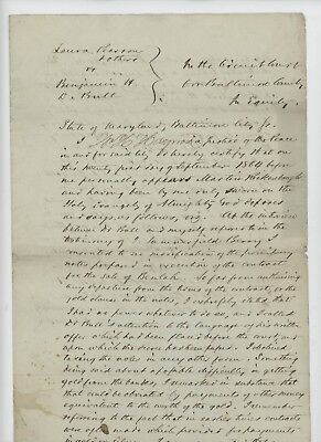 Mr Fancy Cancel Baltimore MD 9/21/1864 Court Document Dispute with Slaves #1782