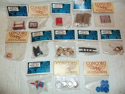 Vintage Concord Dollhouse Mixed Accessories Lot New In Sealed Packages