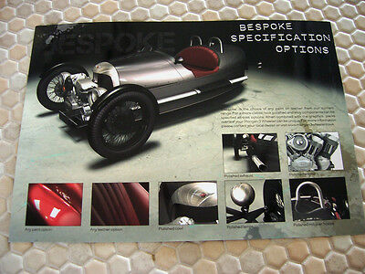 MORGAN BESPOKE SPECIFICATION OPTIONS & GRAPHICS PACKS SALES BROCHURE 2012 USA Ed