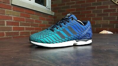 981279d87 ... discount mens adidas zx flux xeno snakeskin shoes sz 11 45 m used  aq7419 reflective 8f8f8