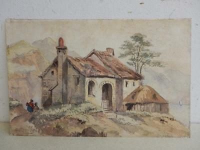 REALLY old PAINTING antique water colour SIGNED