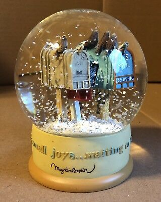 Hallmark MARJOLEIN BASTIN Christmas MAILBOXES SNOWGLOBE Birds Rabbit SMALL JOYS