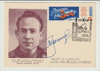 Space Cover Signed Alexey Leonov 1St Walk From The Andrew Swanston Collection