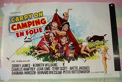 CARRY ON CAMPING 1969 - Original Full Colour Film Cinema Poster -SID JAMES et al