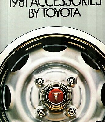 1981 Toyota Accessories Deluxe Color Sales Catalog