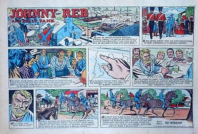 Johnny Reb & Billy Yank by Jack Kirby - color Sunday comic page - Dec. 29, 1957