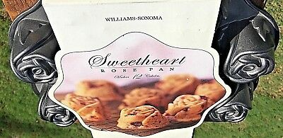 Vintage Williams Sonoma  Sweetheart Rose Baking Pan Cupcake Mold * NEW  OTHER *