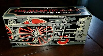 Avon The Atlantic Silver Train Engine Locomotive Deep Woods After Shave