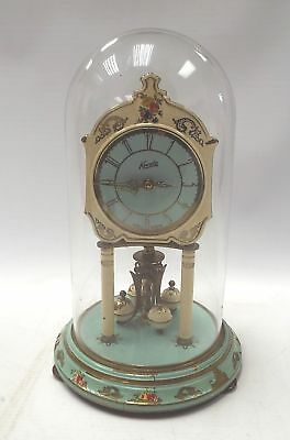 Vintage KUNDO Glass Dome Mantle Clock W. Germany SPARES/REPAIRS - M17