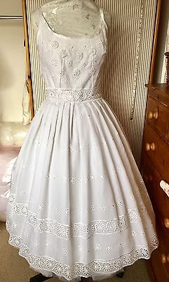 50's Style ,Retro Wedding Dress Restyled For Today's Bride Size 16 New