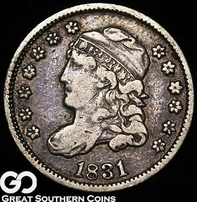 1831 Capped Bust Half Dime, Tough Early Silver Type