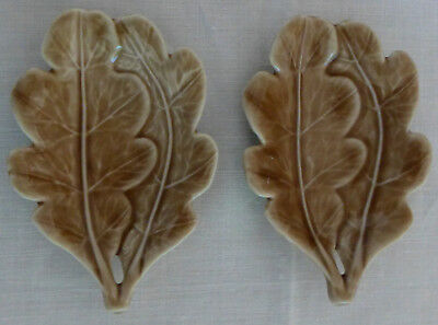 Two WADE Leaf Dishes OAK 1957 - 59
