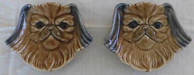 Two WADE Pets Faces Dishes PEKINESE 1959 - 60