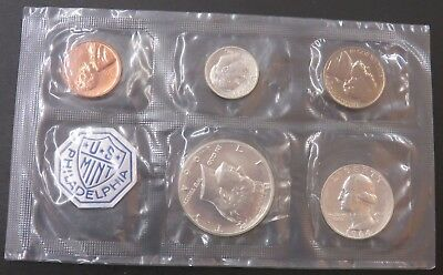 1964 90% Silver United States Mint Proof Set 5 Coins NO Envelope #225
