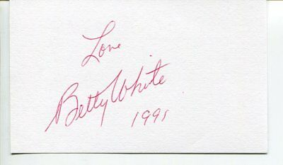 the Golden Girls - Betty White signed autograph NO RESERVE B2538