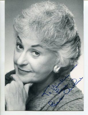 the Golden Girls - Bea Arthur with COA signed autograph NO RESERVE B2540