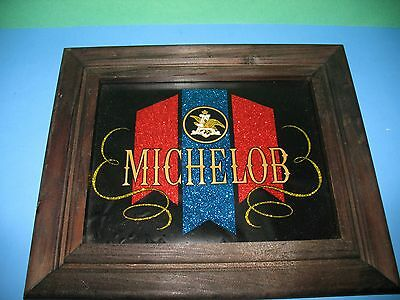Michelob Beer Sign With Wood Frame Man Cave