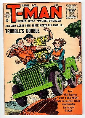 Quality Comics T-MAN #31 January 1956 vintage comic FN condition