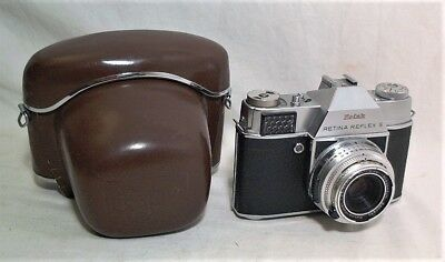 Kodak Retina Relfex S 35Mm Slr W/ Xenar 50Mm 2.8 & Field Case - Clean & Working