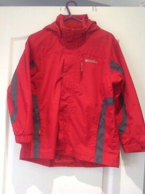Girls Red Quality Hooded Outdoor Persuits Jacket Mountain Warehouse Age 9-10 Yrs