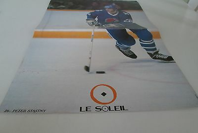 Quebec Nordiques Peter Stastny  Poster Color 16 By 11